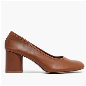 NWOT Madewell Reid Leather Pumps Sz 8.5 Brown/Tan